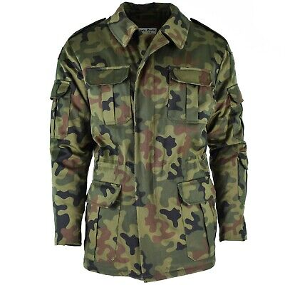 Genuine Polish army olive green panther camo jacket parka military BDU surplus