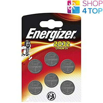 6 Energizer Cr2032 Lithium Batteries 3V Coin Cell Button Dl2032 Exp 2026 New