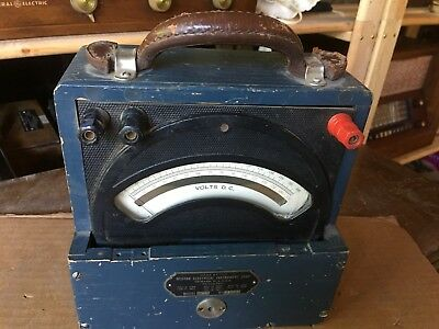 vintage WESTON D.C. VOLTMETER  MODEL # 45  in wood case