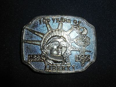 Vintage 100 Years Of Liberty New York Belt Buckle Statue Of Liberty Free Ship!