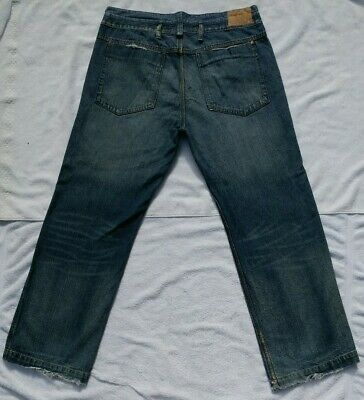 BEN SHERMAN Mens Relaxed Straight Dark Denim Blue Jeans Tag 36x30 Actual 35 X 31