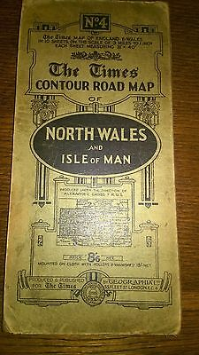 The Times Contour Road Map Geographia Maps North Wales and Isle of Man No. 4