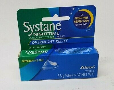 1 SYSTANE Nighttime Overnight Lubricant Eye Ointment EXP 12/2019+ SEALED BOX