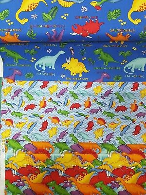 Fabri-Quilt - Lost world - Dinosaur Fabric, 100% Cotton