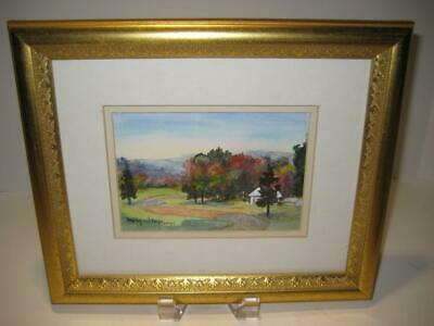 Vintage Signed Framed Matted Original Watercolor Painting ~ By Mary Wiley