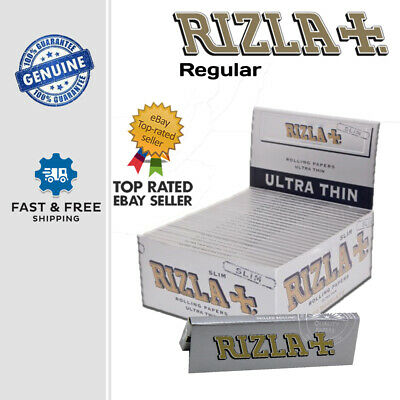 Rizla Silver Slim Genuine Cigarette Smoking Ultra Thin Rolling Papers Original
