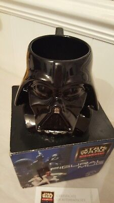 Star Wars Darth Vader Mug 1997 Certificate Of Authenticity Applause Bnib