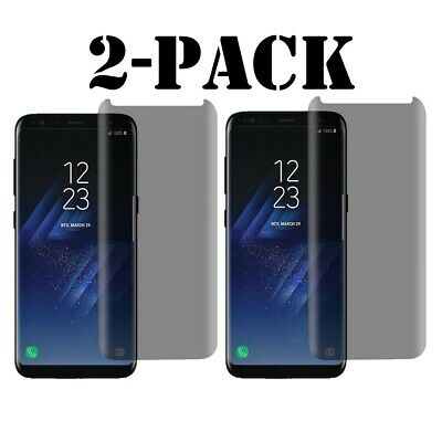 Privacy Screen protector Tempered Glass For Samsung Galaxy S8 S9 Plus / Note 8 9