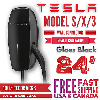 TESLA POWER WALL Connector - Black - 24' - Cable 2nd Gen