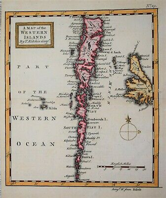 Scotland - A Map Of The Western Isles By T. Kitchin, 1749.