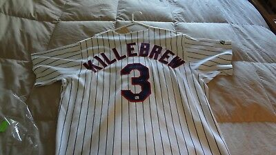 760b3d5f8d1 Harmon Killebrew Autographed Cooperstown Collection Xl Minnesota Twins  Jersey