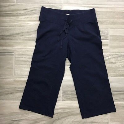 Banana Republic Navy Blue Cropped Sweat Pants Women's Size XSmall XS