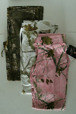 Girls Realtree Brown Pink or White Camo Flare Leg Yoga Lounge Fitness Pants NWT