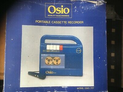 Osio Model 777 Portable Cassette Recorder New In Box