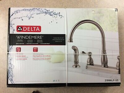 Delta Kitchen Faucet 21996lf Ss Windemere Stainless Steel 2 Handle