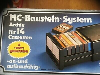 Eickel Mc-Baustein-System Cassette Storage System New In Box