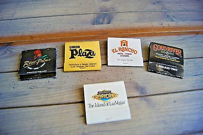Las Vegas Laughlin Casino Hotel Matchbook Covers Lot of 5 Some Closed Casinos NV
