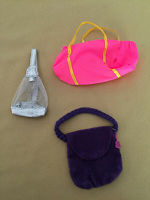 Barbie Lot Of 3 Bags Purses Excellent