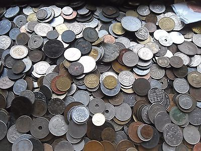 150 world/Old English Coins, SALE NOW ON, bulk lot mixed bag of coins.