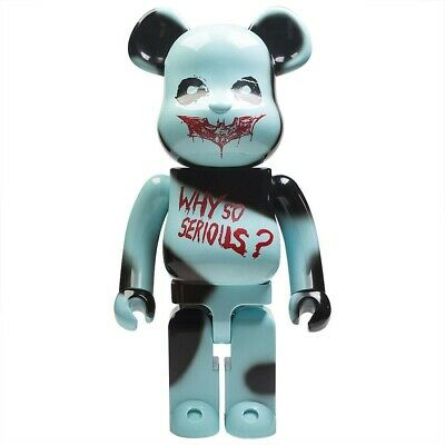 Medicom Be@rbrick DC Comics Batman Knight 100/% Joker Why So Serious Bearbrick 1p