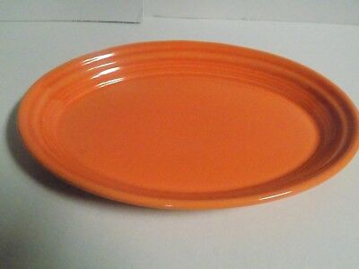 "Fiesta Retired ""Tangerine"" Small Oval Platter...1st Quality...New"