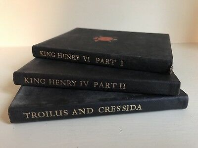Collection of Three New Temple William Shakespeare Books Leather Bound Antique