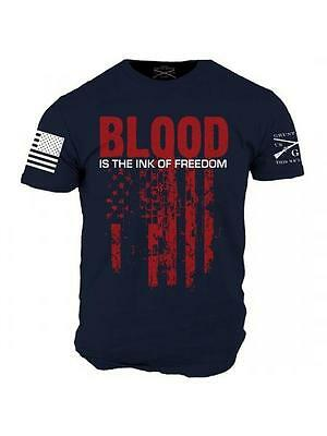 INK OF FREEDOM T-Shirt Navy Blue- Grunt Style Military Men's Navy Blue Tee  Shirt