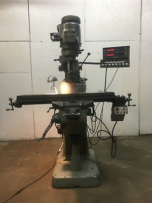 Bridgeport Series 1 Milling Machine, Power Table, DRO, Variable Speed