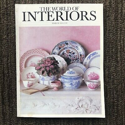Vintage The World Of Interiors Magazine March 1984