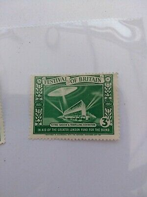 Two Festival Of Britain Stamps 1951