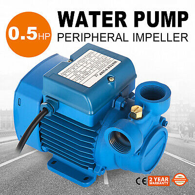 Electric Water Pump with peripheral impeller max 2000 l/h 0.5Hp Centrifugal pump