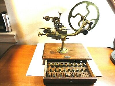 Antique Wheel Cutting Topping Machine Watchmakers Lathe with Cutters