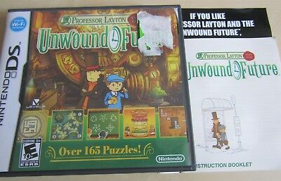 Replacement case only! Professor Layton and the Unwound Future ,Nintendo DS