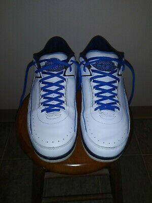 7b508a9319e559 Nike Air Jordan 2 Retro Low SZ 13 Midnight Navy University Blue  VERY CLEAN