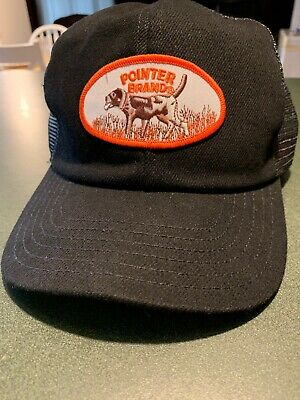 EUC Vntg? POINTER BRAND HAT CAP EMBRIODERED MADE IN USA TRUCKER HUNTER Snap Back
