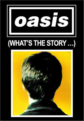 """0770 Vintage Music Poster Art - Oasis """"Whats The Story"""""""