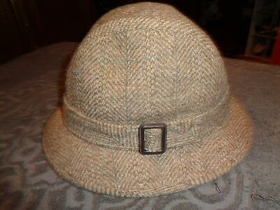 ab21e6d28649e PENDLETON MEN S BROWN Tweed Fedora Hat Pure Virgin Wool Size 7 1 4 ...
