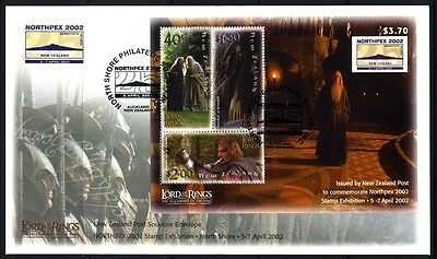 2002 New Zealand - Lord of the Rings Fellowship of the Ring - NORTHPEX FDC