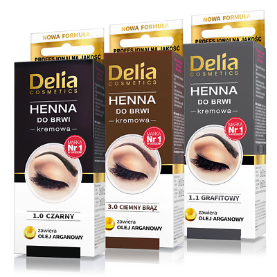Delia - Professional Quality - HENNA COLOR TINTING CREAM KIT FOR EYEBROWS
