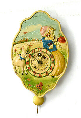 Vintage Lux Mary Had A Little Lamb Pendulette Clock Circa 1928