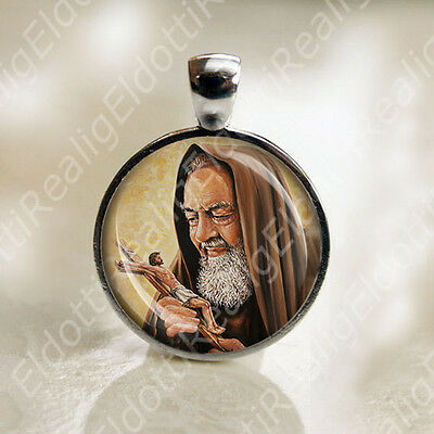 St. Padre Pio Christian Catholic Medal Religious Jewelry Pendant for Necklace