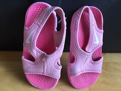 78974f8e72db Nike Kids Toddler Girl Sandals Size 9T (foot Size 6 Inches)
