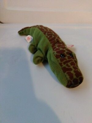 c6f68ccc3e6 TY ORIGINAL BEANIE Baby ALLY THE ALLIGATOR REPTILE Retired PVC Tag ...