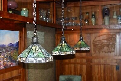 Handel Geometric hanger 1 of 3 available, lamp,mission,arts and crafts