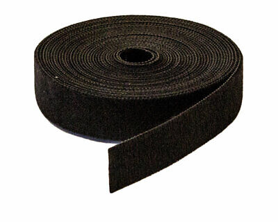 "3/4"" Inch Roll Hook and Loop Reusable Cable Ties Straps 5M 15ft 5 Pack"