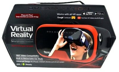 Dream Vision VR 3D 360 - Smartphone Headset Headphones iOS & Android