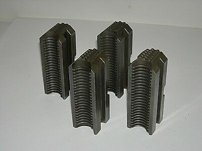 Set of 4 used lathe Chuck Jaw 04-001213-01  See details and photos