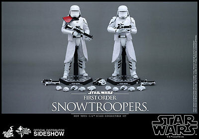 """12"""" Star Wars First Order Snowtrooper 2pk Set Hot Toys 902553 In Stock"""