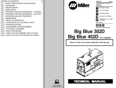 MILLER BIG 40G 40 G Technical Manual - $42.99 | PicClick on
