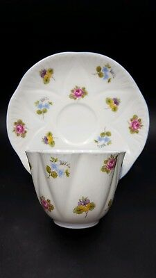 "Shelley ""Rose Pansy Forget Me Not"" Dainty Shape Teacup & Saucer Set"